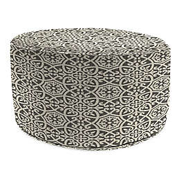 Print 24-Inch Outdoor Round Ottoman in Sunbrella® Fabric