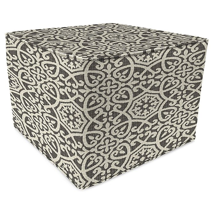 Wondrous Print 20 Inch Square Outdoor Square Pouf Ottoman In Alphanode Cool Chair Designs And Ideas Alphanodeonline
