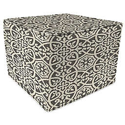 Print 20-Inch Square Outdoor Square Pouf Ottoman in Sunbrella® Fabric
