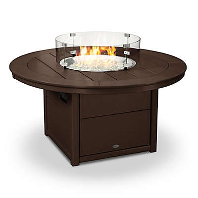 POLYWOOD® 48-Inch Round Fire Pit Table