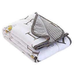 Burt's Bees Baby® A-Bee-C Organic Cotton Receiving Blanket in Charcoal
