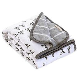 Burt's Bees Baby® Pine Forest Organic Cotton Reversible Blanket in Heather Grey