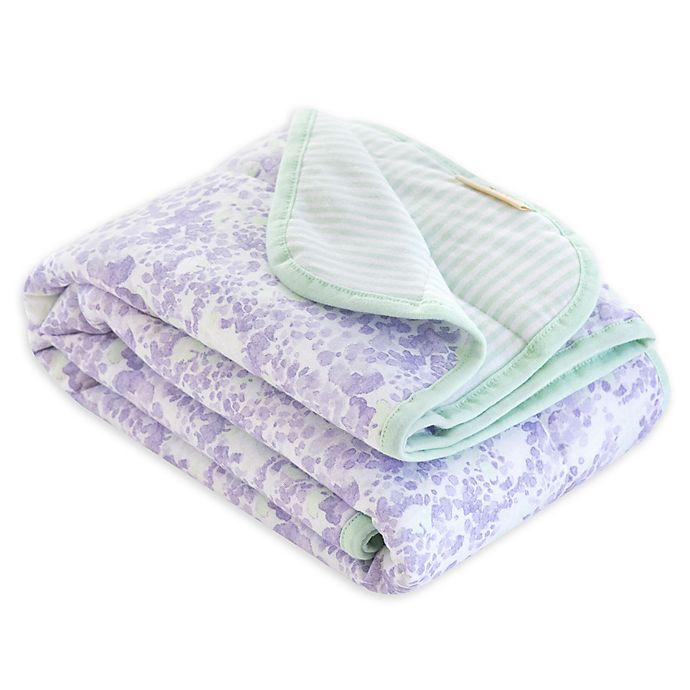 Alternate image 1 for Burt's Bees Baby® Lost in Lilac Organic Cotton Receiving Blanket