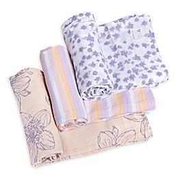 Burt's Bees Baby® Blackberry Flower Organic Cotton Muslin 3-Pack Swaddle Blankets