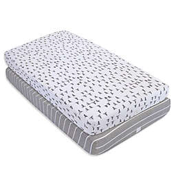 Burt's Bees Baby® Pine Forest Organic Cotton Fitted Crib Sheets in Heather Grey (Set of 2)