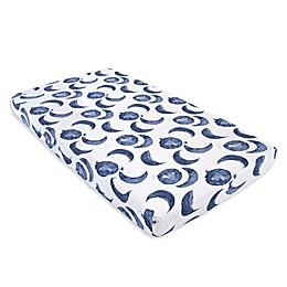 Burt's Bees Baby® Hello Moon Organic Cotton Fitted Crib Sheet in Indigo