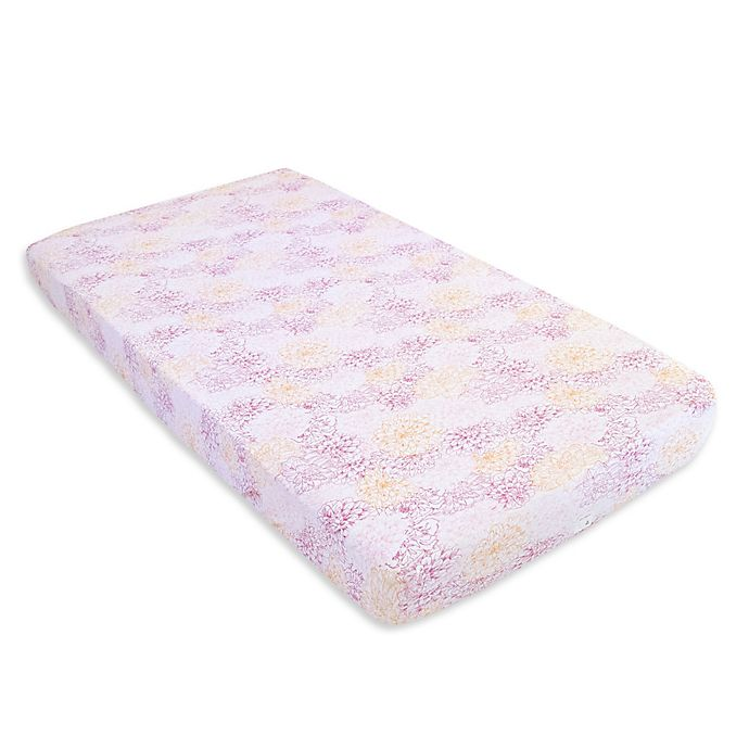Burt S Bees Baby 174 Peach Floral Organic Cotton Fitted Crib