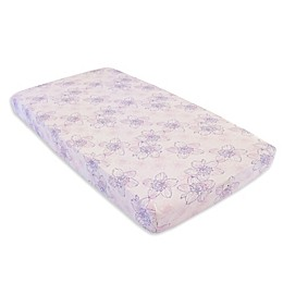 Burt's Bees Baby® Blackberry Flower Organic Cotton Fitted Crib Sheet in Dawn