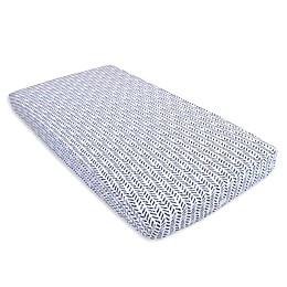 Burt's Bees Baby® Guide the Way Organic Cotton Fitted Crib Sheet in Indigo