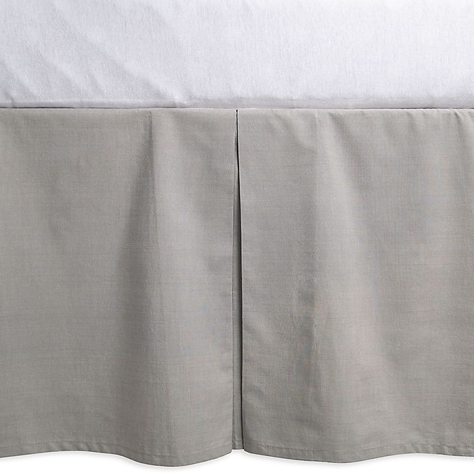 Alternate image 1 for Burt's Bees Baby® Woven Organic Cotton Crib Skirt in Heather Grey