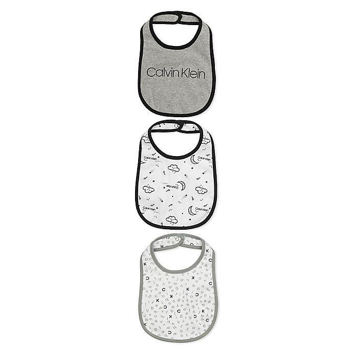 Alternate image 1 for Calvin Klein™ 3-Pack Bibs