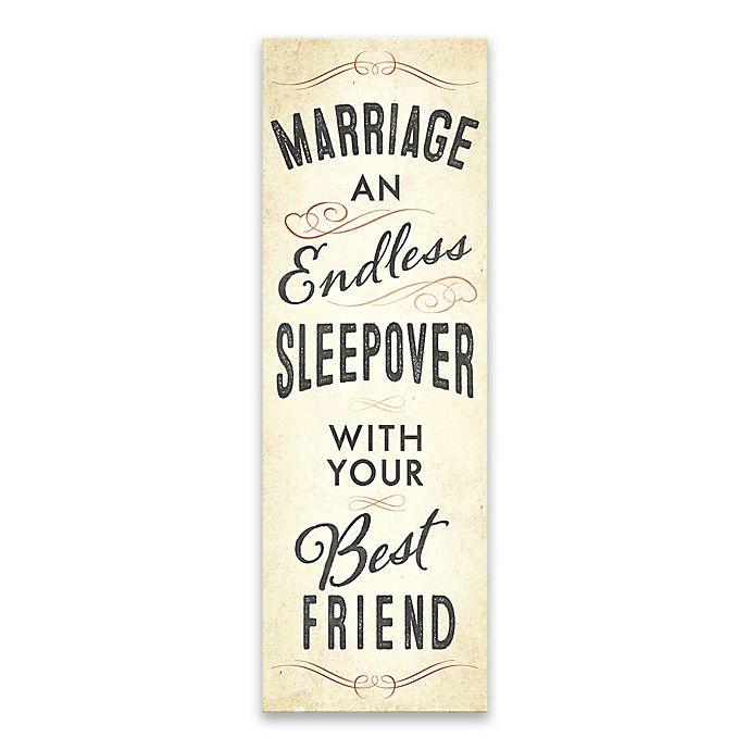 Alternate image 1 for Artissimo Designs™ Marriage Typography Wrapped Canvas Print Wall Art