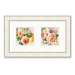 Bee & Willow™ Home Colorful Bouquet Diptych 22-Inch x 14-Inch Framed Wall Art