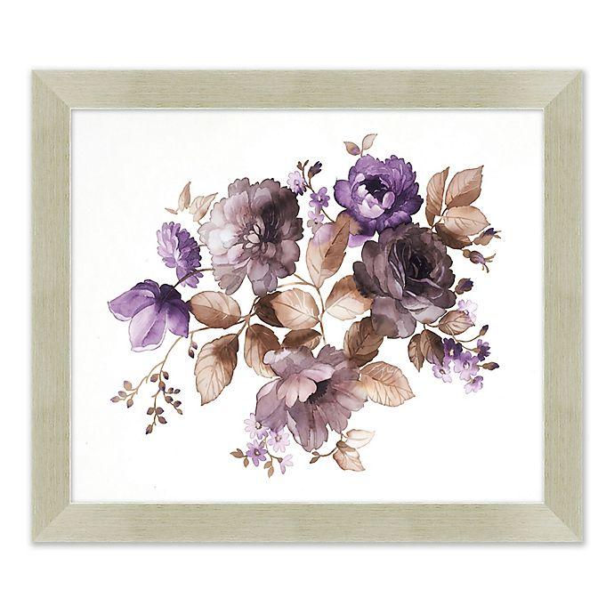 Alternate image 1 for Purple Flowers 23.5-Inch x 27.5-Inch Framed Print Wall Art