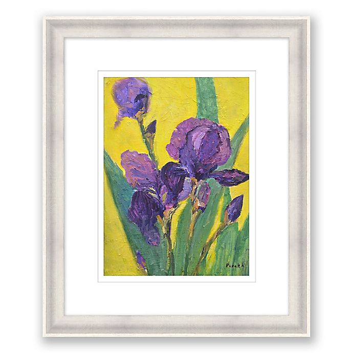 Alternate image 1 for Purple Iris 20.25-Inch x 24.25-Inch Framed Wall Art