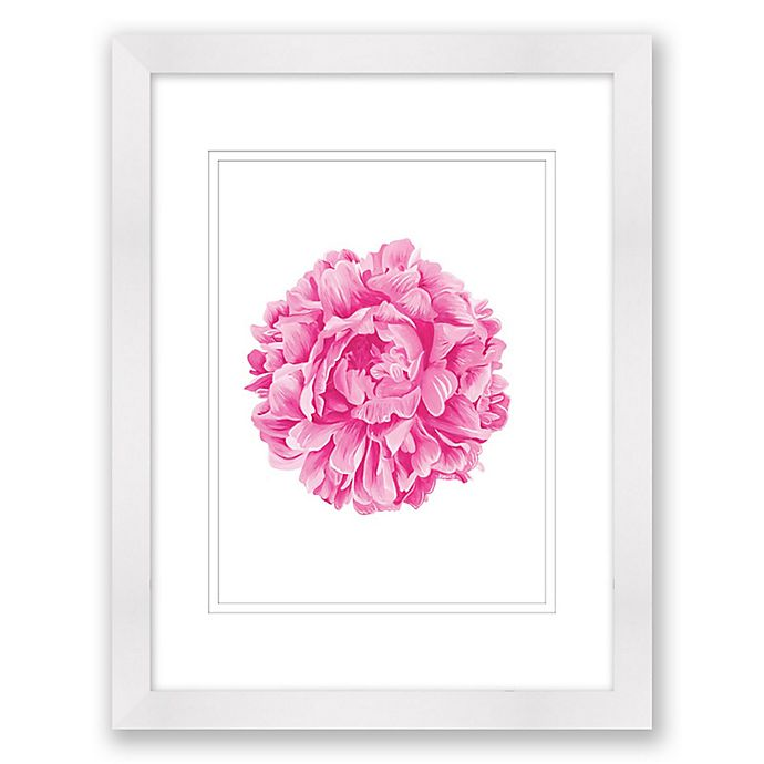 Alternate image 1 for Fuchsia Peony 15-Inch x 18-Inch Paper Framed Print Wall Art