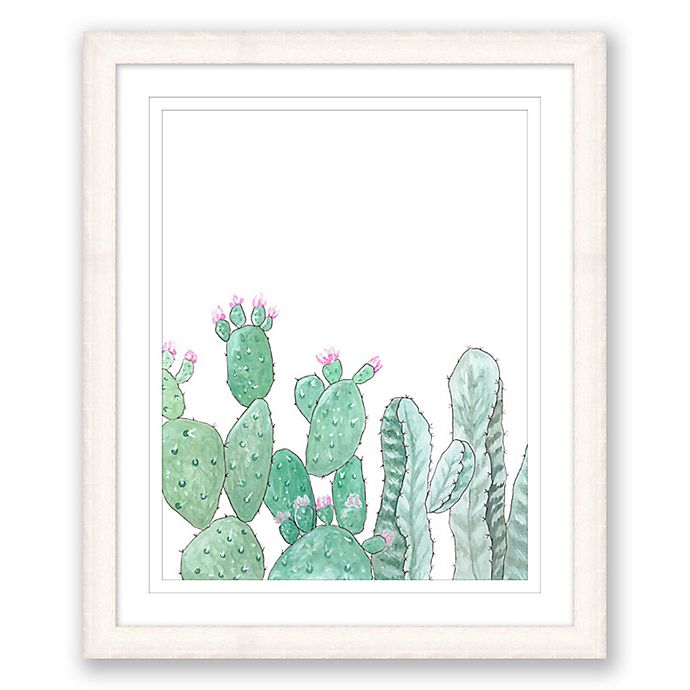 Alternate image 1 for Animated Cacti 15-Inch x 18-Inch Paper Framed Print Wall Art