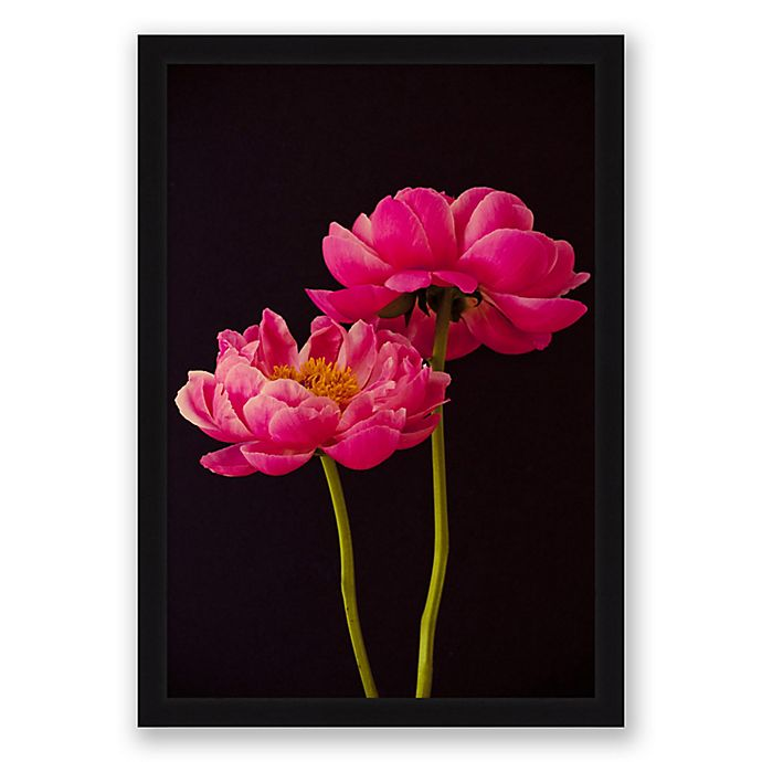 Alternate image 1 for Dual Floral 22.5-Inch x 31.5-Inch Paper Framed Print Wall Art