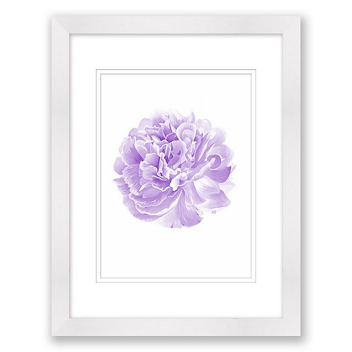 Alternate image 1 for Delicate Peony 15-Inch x 18-Inch Paper Framed Print Wall Art