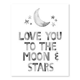 Love You to the Moon and Stars 20-Inch x 16-Inch Canvas Wall Art