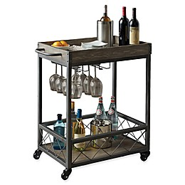 Modern Farmhouse Industrial Bar cart in Grey