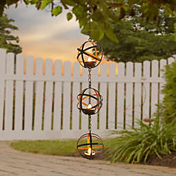 Orbital Solar LED Tea Lights in Brown
