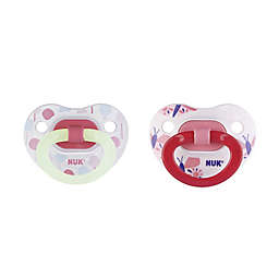 NUK® Glow-in-the-Dark 6-18M Lollipop 2-Pack Orthodontic Pacifiers