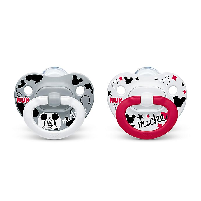 Alternate image 1 for NUK® Disney® Mickey Mouse 0-6M 2-Pack Orthodontic Pacifiers