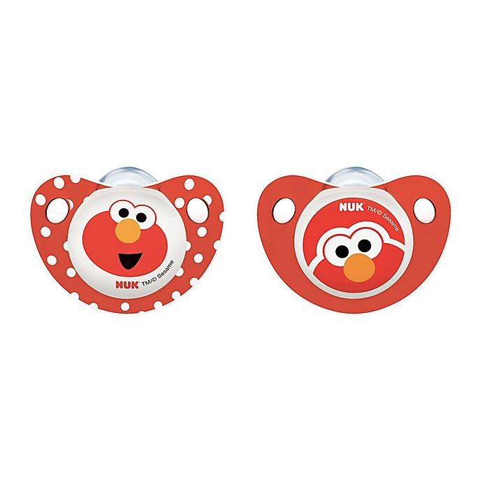 Alternate image 1 for NUK® Sesame Street® 0-6M 2-Pack Orthodontic Pacifiers