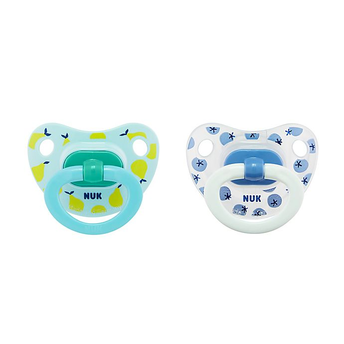 Alternate image 1 for NUK® 6-18M Fruits Boy 2-Pack Orthodontic Pacifiers