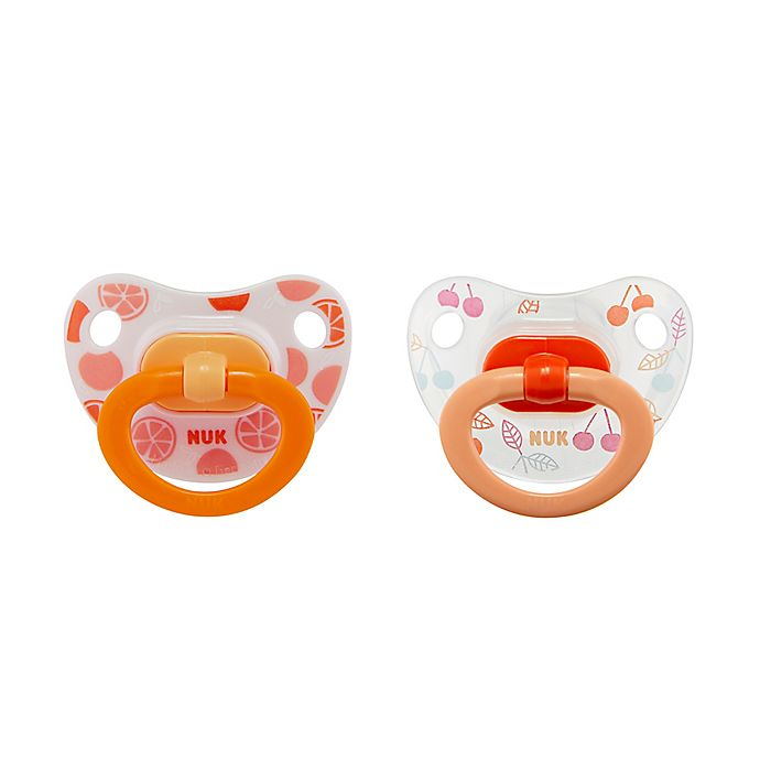 Alternate image 1 for NUK® 18-36M Fruits Girl 2-Pack Orthodontic Pacifiers