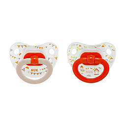 NUK® 18-36M Banner Flags Girl 2-Pack Orthodontic Pacifiers