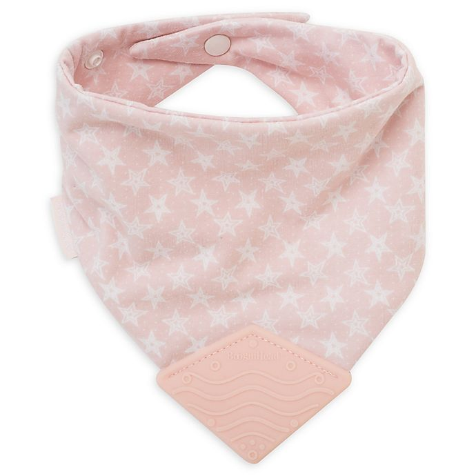 Alternate image 1 for BooginHead® Stars Teether Bib in Pink