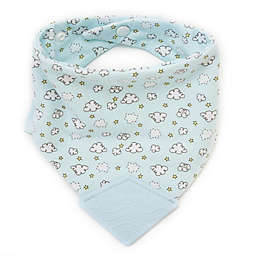BooginHead® Sweet Clouds Teether Bib in Blue v