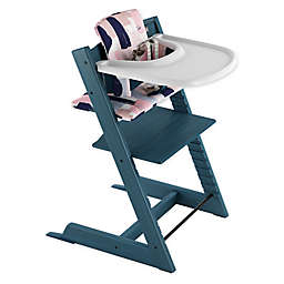 Stokke® 4-Piece Tripp Trapp® High Chair Complete Bundle Set in Midnight Blue