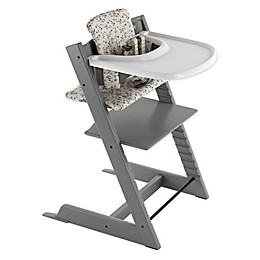 Stokke® 4-Piece Tripp Trapp® High Chair Complete Bundle Set in Storm Grey