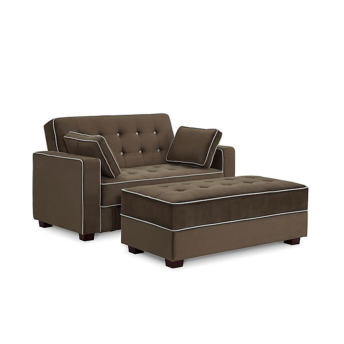 Sealy® Belize Convertible Loveseat and Ottoman with Storage ...