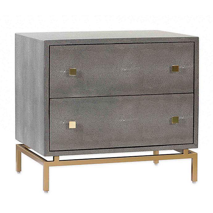 Alternate image 1 for TOV Furniture Pesce Shagreen Nighstand in Dark Grey