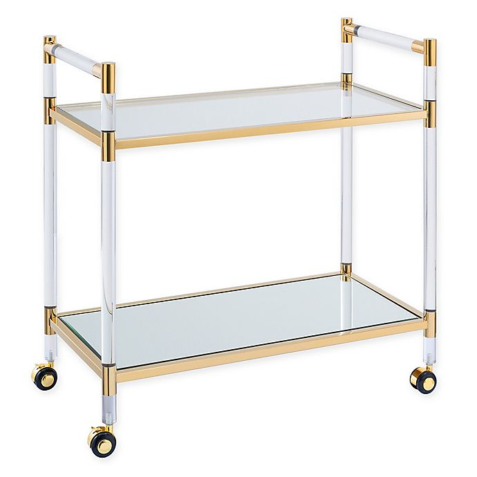 Alternate image 1 for Southern Enterprises Janiston Metal and Acrylic Bar Cart