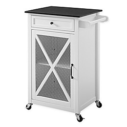 Linon Home Ashboro Kitchen Cart in White