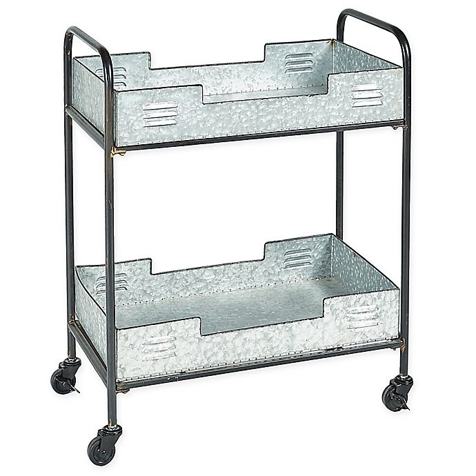 Alternate image 1 for Linon Home Dover Indoor/Outdoor Bar Cart in Silver