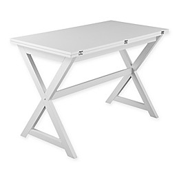Southern Enterprises Clarke Convertible Dining Table in White
