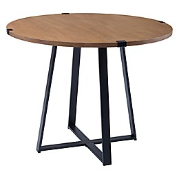 Forest Gate Sage 40-Inch Round Metal Wrap Dining Table
