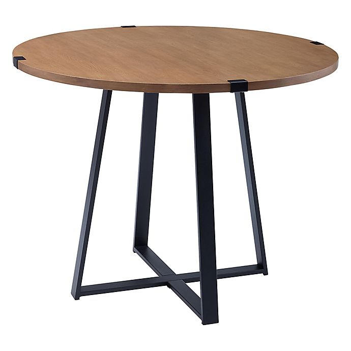 Forest Gate Sage 40 Inch Round Metal Wrap Dining Table Bed Bath Beyond