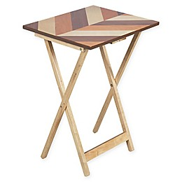 Parquet Top Snack Tray Table