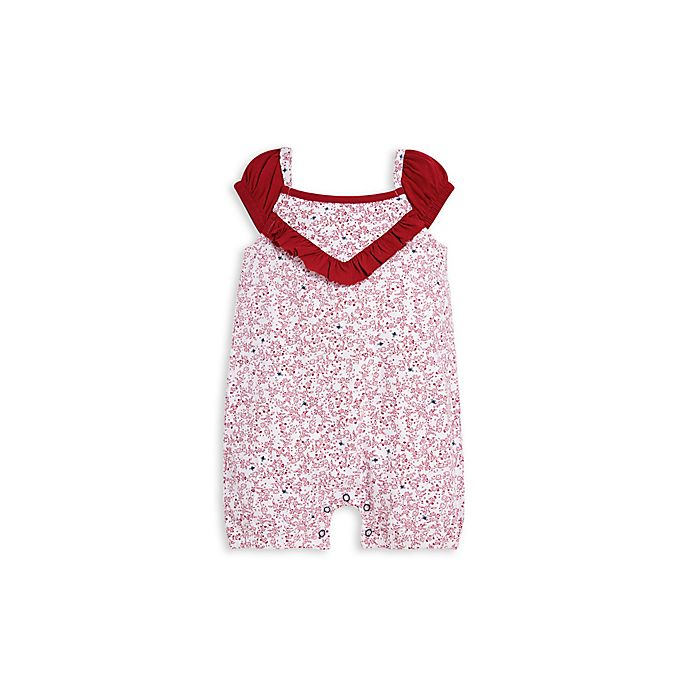Alternate image 1 for Dainty Floral Bubble Romper in Red