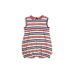 Striped Bubble Romper in Red/Blue