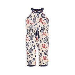 Organic Cotton Paisley Coverall in Grey