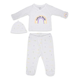 Calvin Klein 3-Piece Take Me Home Shirt, Pant, and Hat Set in White