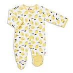 E=MC2™ Newborn Lemon Drop Magnetic Footie in Yellow